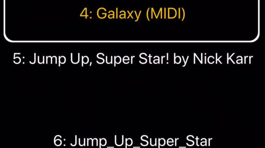 Galaxy (LazyTown) but it has the Super Mario Galaxy