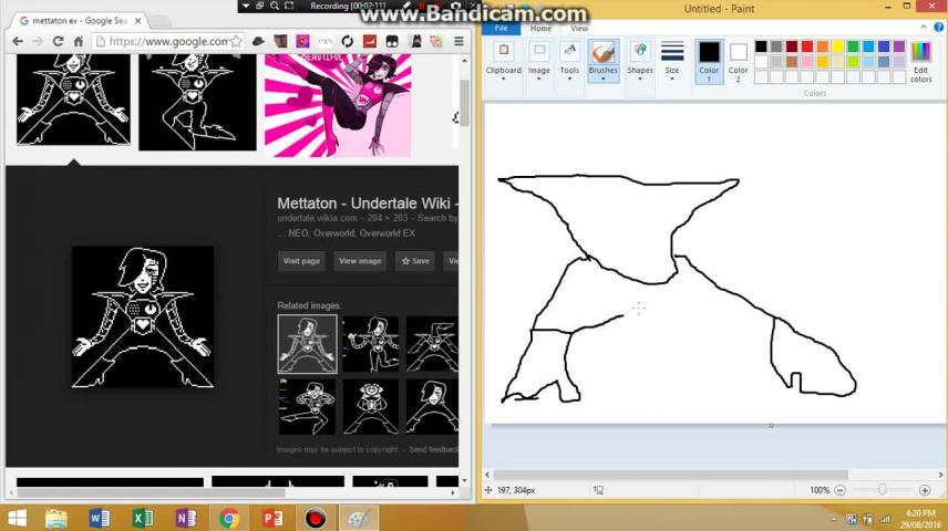 HOW TO DRAW METTATON EX FROM UNDERTALE - VidLii