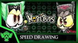 Speed Drawing: MobéBuds - Request - EVIL WIKKY Vs BOWGLIDER (Concept 1) Mr. A.T. Andrei Thomas 201
