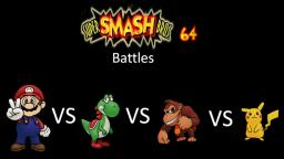 Super Smash Bros 64 Battles #141: Mario vs Yoshi vs Donkey Kong vs Pikachu