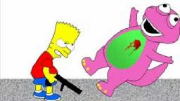bart kills barney the dinosaur
