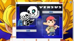 Game Theory but is Sans from undertale fighting Ness from earthbound?