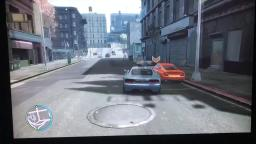 GTA IV Roman punches Niko out of car