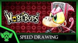 Speed Drawing: MobéBuds - Draugrio (Concept 1) | Mr. A.T. Andrei Thomas V
