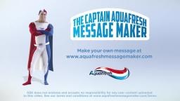 funny aquafresh message maker video
