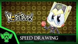 Speed Drawing: MobéBuds - Suited bulkey (Concept 1) | Mr. A.T. Andrei Thomas