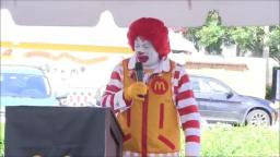 RONALD MCDONALDS GAY FUCKING CONFERENCE SPEECH ABOUT HIS INEPT SHITTY RUN DOWN ESTABLISHEMENT!!!!