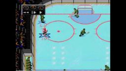 NHLPA 93 - Guy Scores On His Own Net - Sega Genesis Gameplay