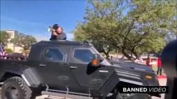 Alex Jones Bullhorns Clinton From Turret of Armored Truck