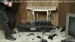 Samsung projection Tv destruction 2