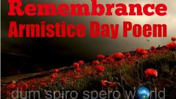 Remembrance Day Armistice Poem