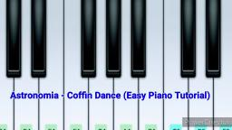 Coffin Dance - Astronomia (Easy Piano Tutorial)