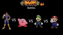 Super Smash Bros 64 Battles #52: Captain Falcon vs Kirby vs Luigi vs Mario