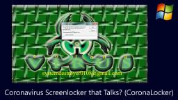 Coronavirus Screenlocker that Talks? (CoronaLocker)