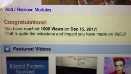 1000 views! Thank you guys!