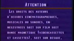 French-Canadian Interpol Warning Scroll / Cette Videocassette / Astral Video