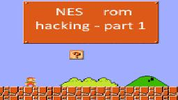 NES romhacking PART 1 - tile editing