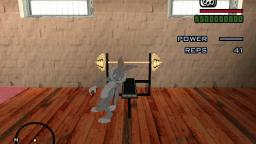 Bugs Bunny lifting weights