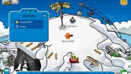 Me winning at club penguin sled race