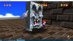 Jugando al port de Super Mario 64 de Windows.