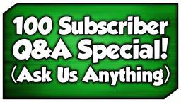 100 Subscriber Q&A Special! (Ask Us ANYTHING)