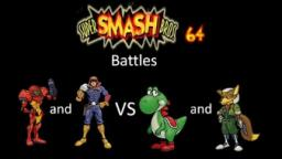 Super Smash Bros 64 Battles #98: Samus and Captain Falcon vs Yoshi and Fox