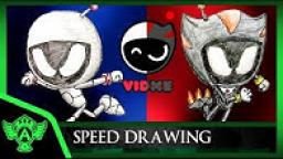 Speed Drawing: Astro VS Dark Astro (Vidme OC) | MrATAndreiThomas 2018