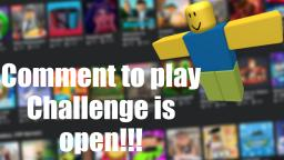 Comment to play is open for Roblox games