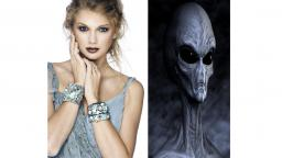 Taylor Swift Works For Grey Aliens