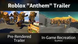 Roblox Anthem Trailer - In-Game vs. Trailer Comparison