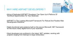 Why should you hire ASP.NET Developers