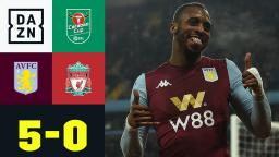 Lehrstunde! Aston Villa schießt Reds-Youngsters ab Aston Villa - Liverpool 50  Carabao Cup  DAZN