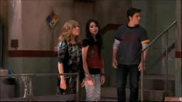 iCarly funny scene Gibby falls from the ceiling