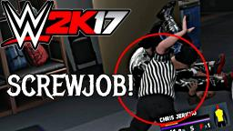 WWE 2K17 Glitch - THE REFEREE REFUSES TO COUNT!!! REFEREE HEEL TURN!!!