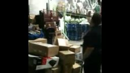 Walmart Stock Room Workers Throw iPads for Fun