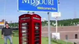 Here i am staring by the pay phone in Missouri