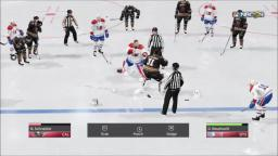 NHL 18 - Goalie Fight - PS4 Gameplay