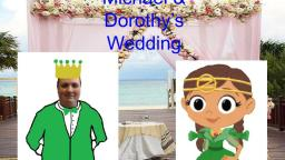 Michaels and Dorothys wedding cartoon