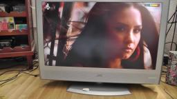 Testing the really good speakers on a JVC LT-32DR7 32 inch Silver HD LCD TV with freeview