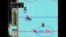 NHLPA 93 - Bloody Injury - Sega Genesis Gameplay