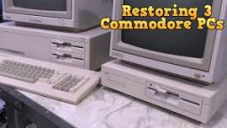 Restoring three Commodore PC-compatibles