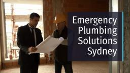 Emergency Plumbing Solutions Sydney