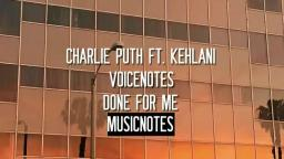 Charlie Puth - Done For Me (Audio)