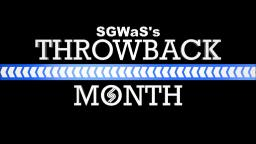 SGWaS's Throwback Month Logo