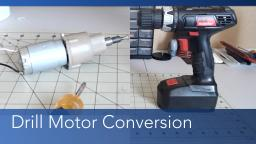 Converting a Drill Motor to a Robotics Drive Motor