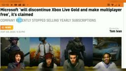 Microsoft Ending Xbox Live Gold - Free Online multiplayer for all