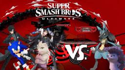 SSBU: Joker, Bayonetta, Sonic and Ruby vs. Una and Lucario