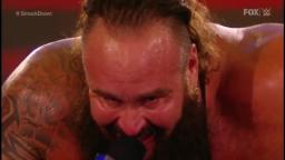 Braun strowman imitating Bray Wyatt laugh