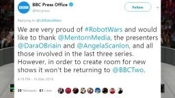 BBC cancels Robot Wars... again