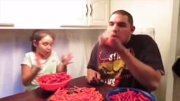 HOT CHEETOS AND TAKIS CHALLENGE  DAUGHTER BEATS DADDY  Valenzuela Family